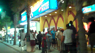Photograph -Rick van der Valk -Downtown Myrtle Beach on Labour Day..Crazy people....