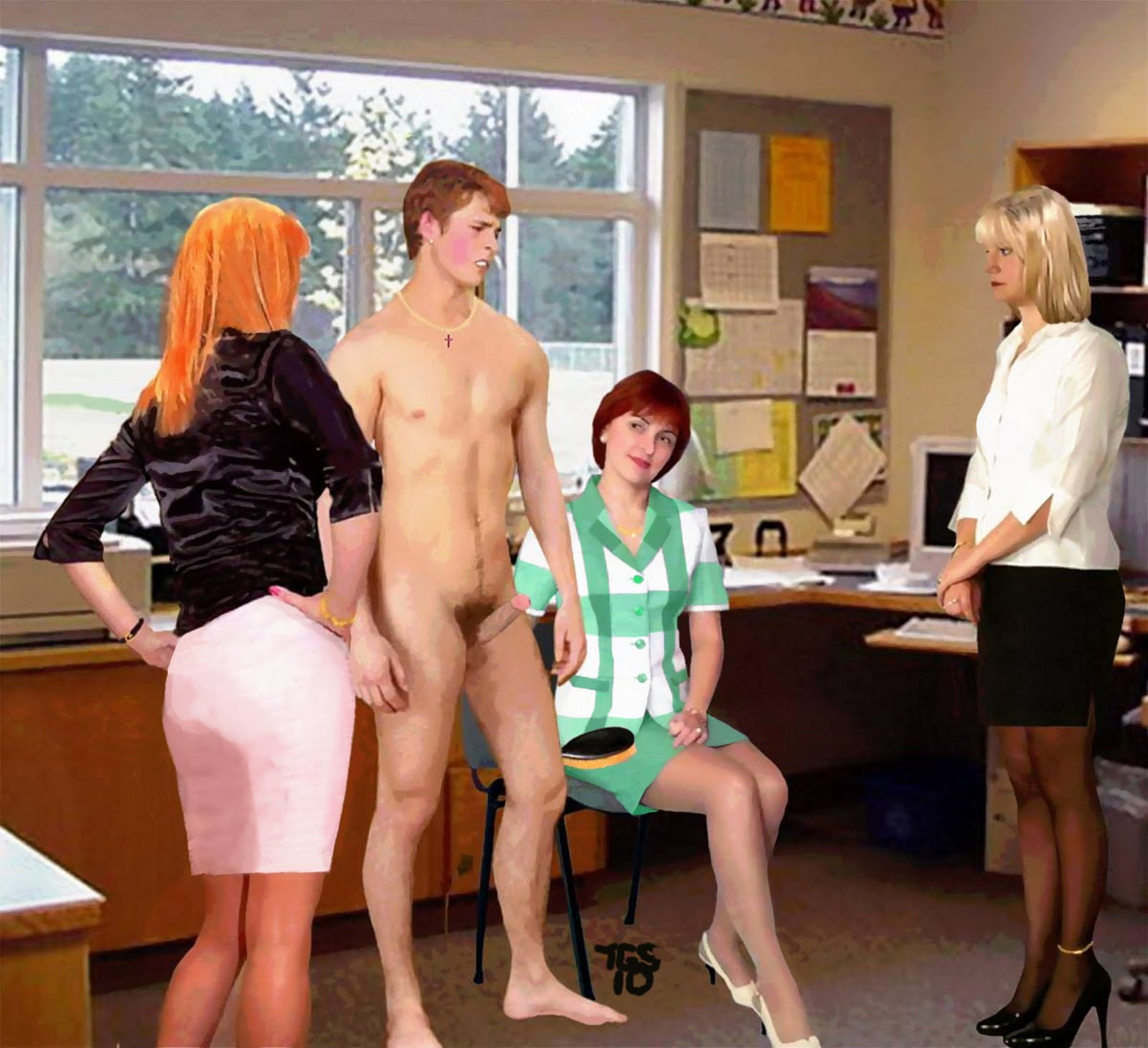 Erect spank office