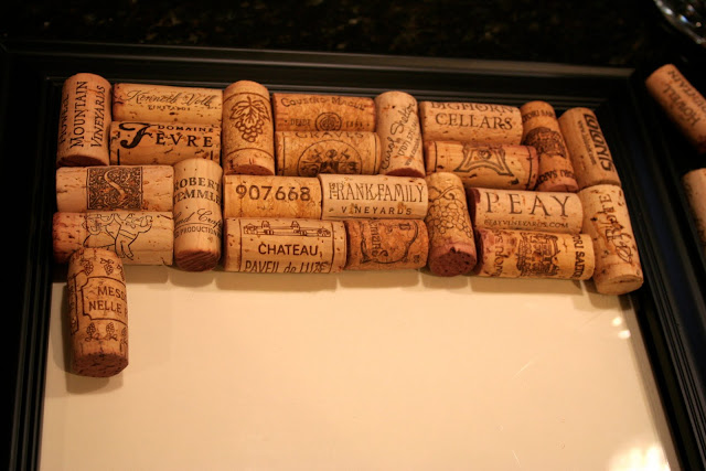 Making wine cork boards home stories a to z for Making a cork board from wine corks