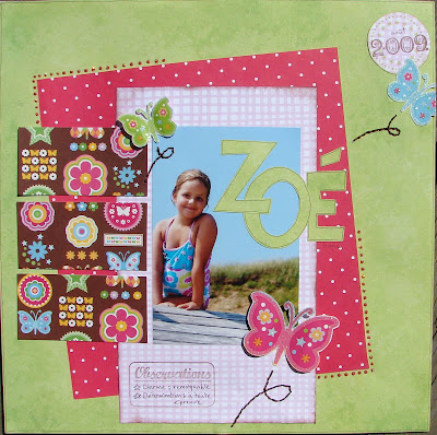Mes pages de septembre Zoe