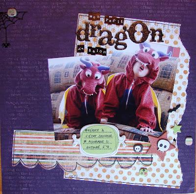 Défi « monochrome à festons » de picotine Dragon+de+salon