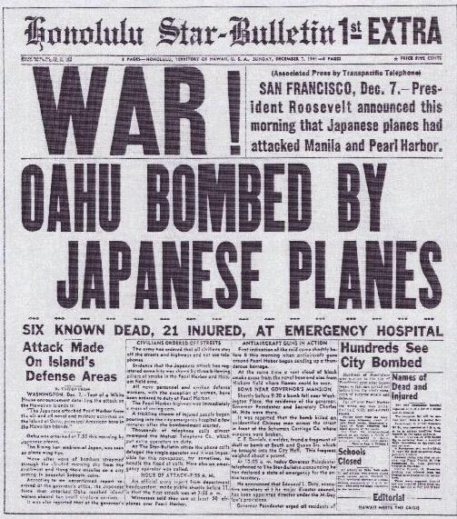 PEARL HARBOR Day, December 7th