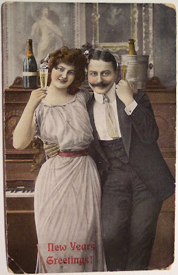 Мир вокруг новогодние открытки начала 20 го века