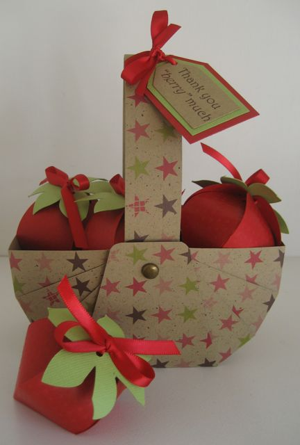 Handmade Basket Paper : Hope packages paper strawberries in a handmade basket