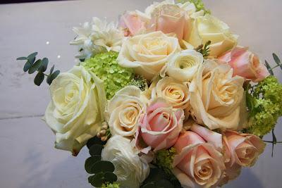 Pink Blanc Mange Clotted Cream Wedding Bouquet