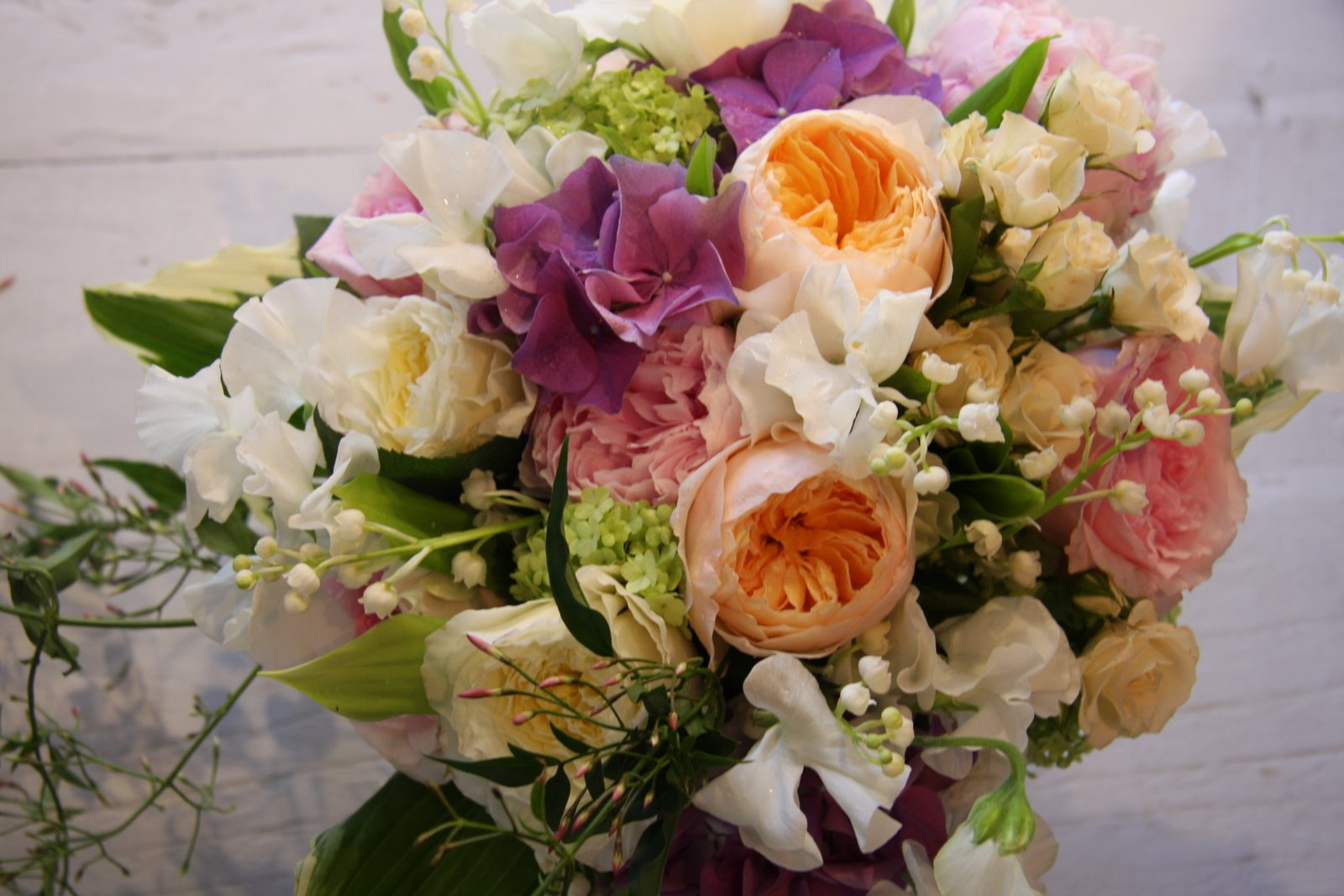 The Flower Magician: English Country Garden Wedding Bouquet