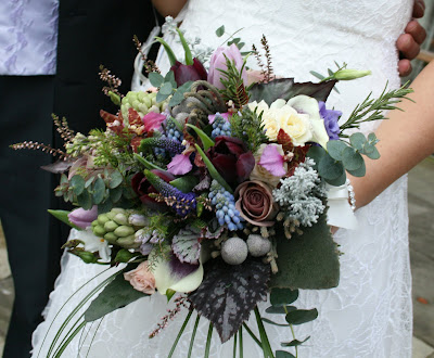 Flower design january wedding at stanley house blackburn for Wedding bouquet tulips and roses