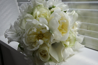 the wedding gallery bridal bouquet of white peonies