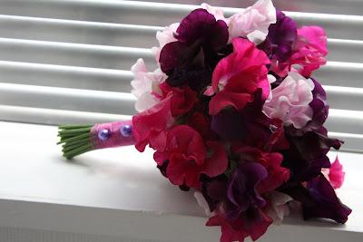 Deep Purple Amp Fuschia Pink Bridal Bouquet