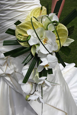 This is a trial bouquet created for a wedding that will be in August ...