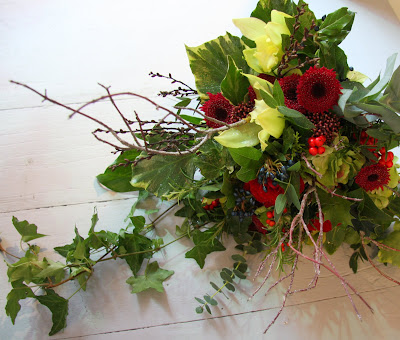 Trial Wedding Bouquet for a Christmas Wedding