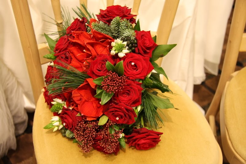 My second offering is this seriously festive Christmas wedding bouquet which