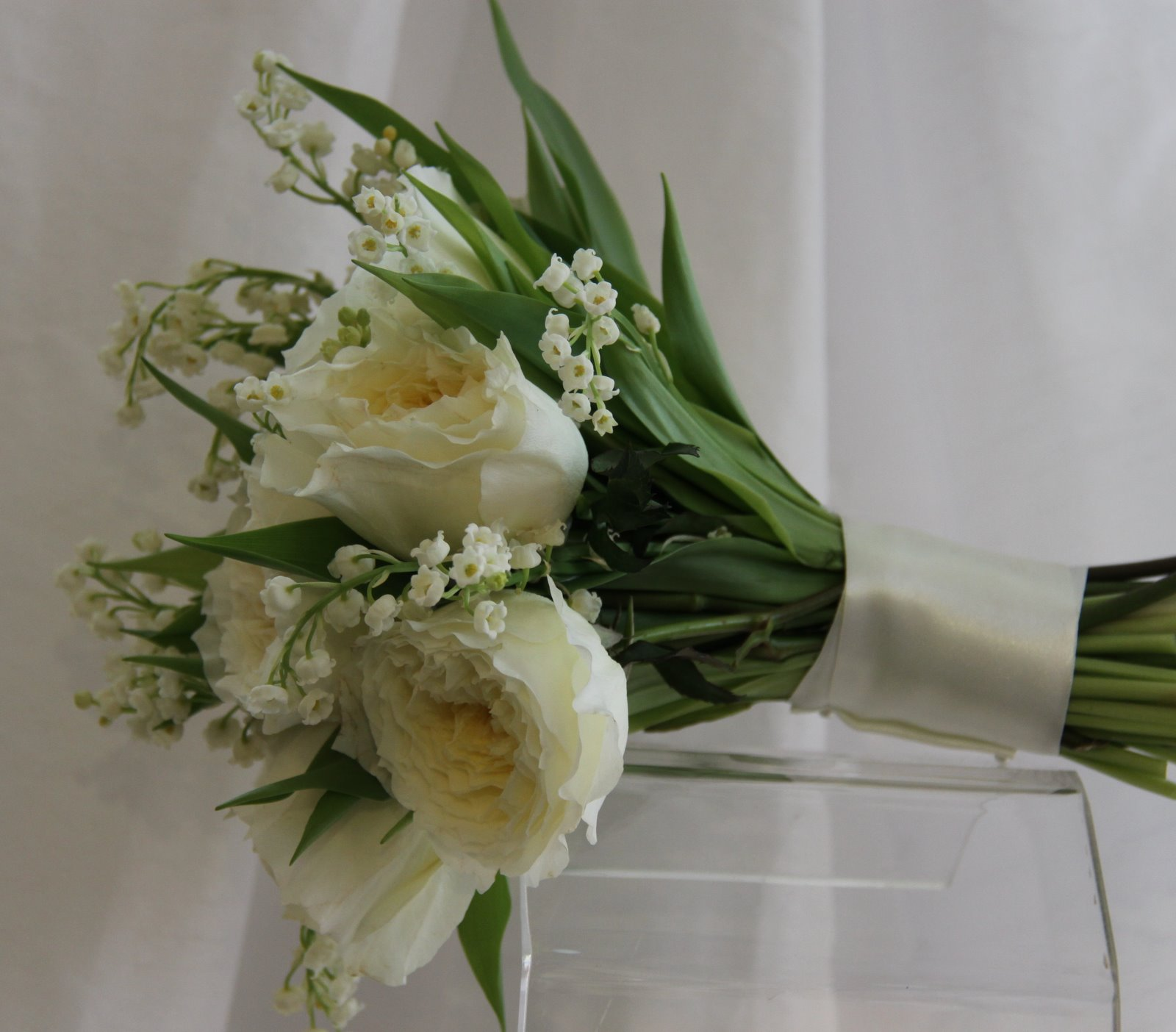 The Flower Magician Lily Of The Valley Patience Rose Wedding Bouquet