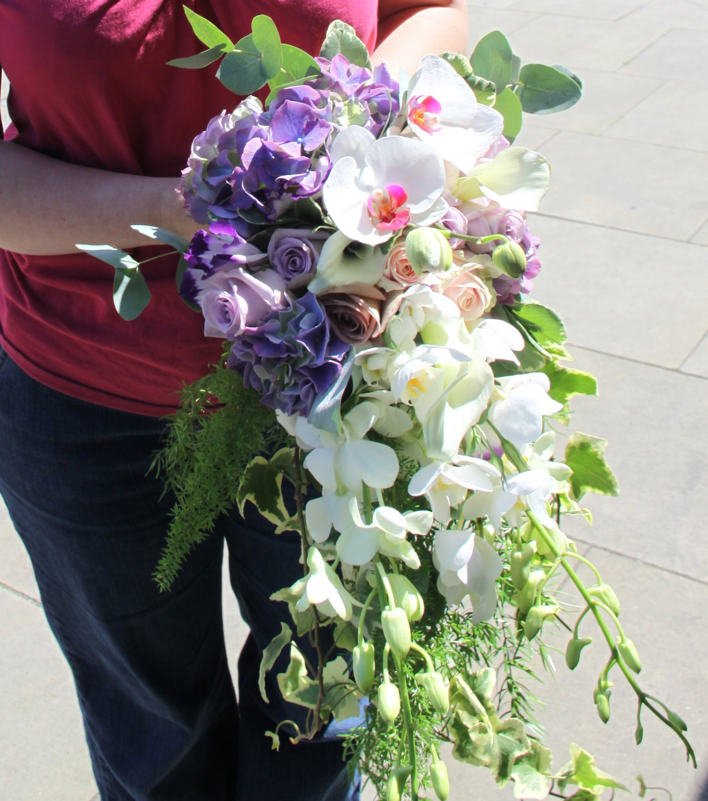 Cascade Orchid Bridal Bouquet : The flower magician orchid lilac rose cascade wedding