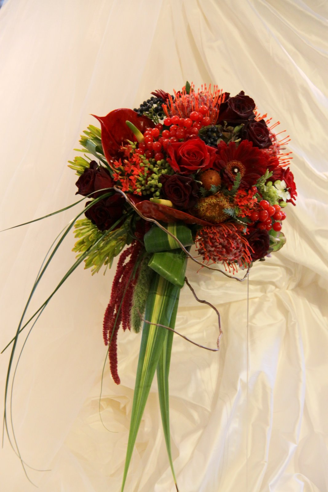 The jewels of autumn wedding bouquet for Wedding bouquets for autumn