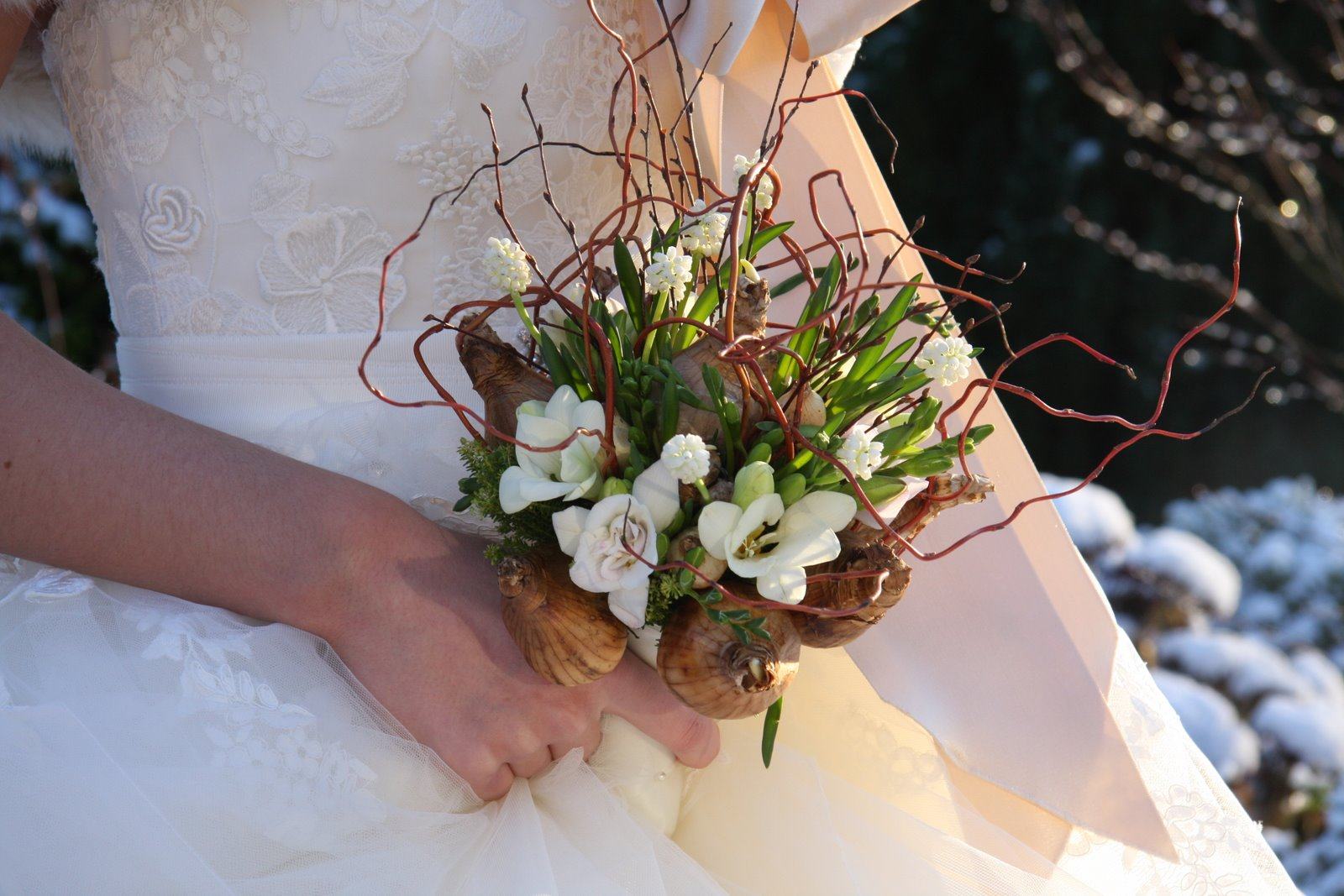 The flower magician spring bulb rustic wedding bouquet the flower magician wedding bouquets izmirmasajfo