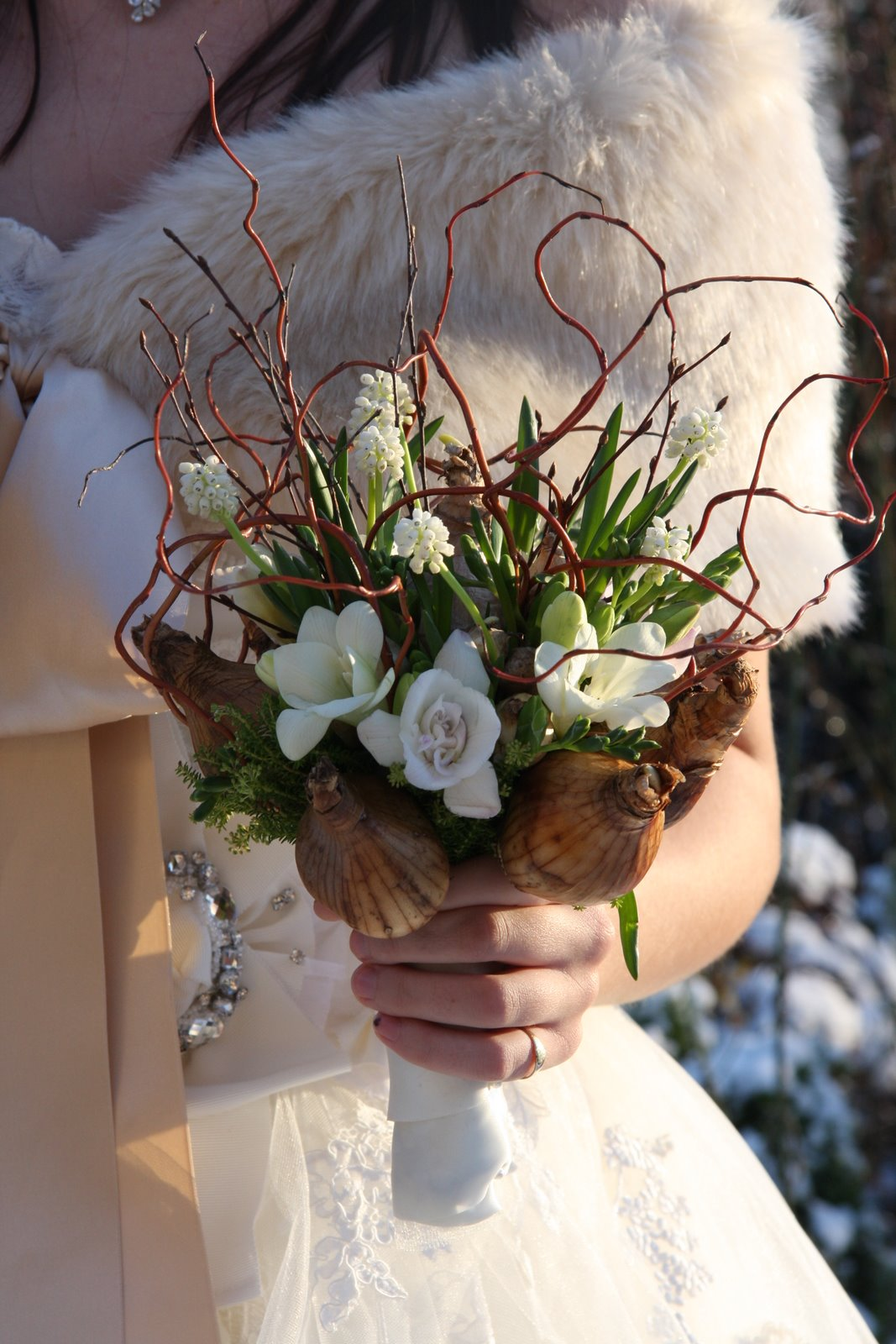 The Flower Magician: Spring Bulb Rustic Wedding Bouquet
