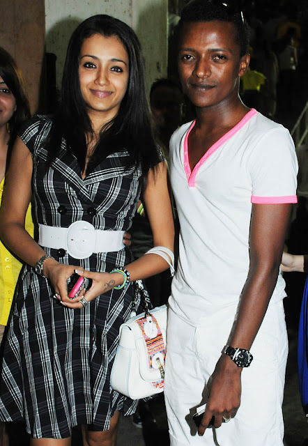 Actor Trisha Krishnan and costume designer Sidney Sladen