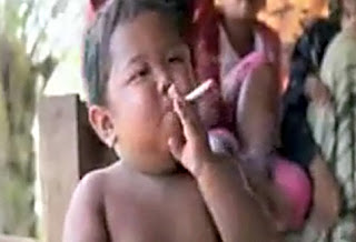 Two year old Indonesian smoking Video