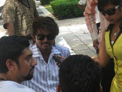 Vijay at Kaaval Kaadhal Sets Malaysia Still 2
