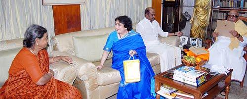 Rajini Invites Karunanidhi