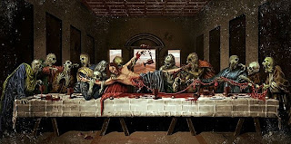 Zombie last supper painting