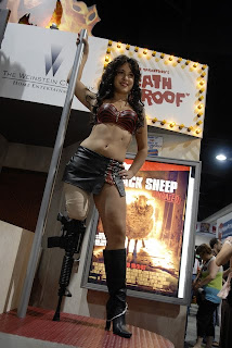 Amputee model Lacey Henderson dressed up as Cherry Darling from Robert Rodriguez' film Planet Terror