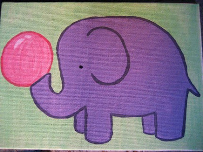 hong kong fashion geek verysmallanna elephant bubblegum painting