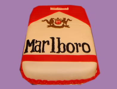 marlboro cigarettes cake