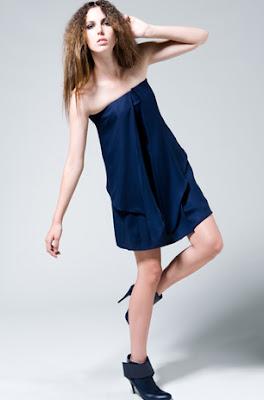 Frank Tell silk georgette dress
