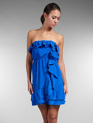 Walter ruffled strapless dress hong kong fashion geek