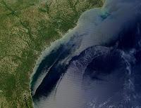 تيارات الخليج المندفعة - صورة ملتقطة من القمر الصناعي لوكالة الفضاء الأمريكية