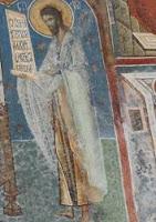 رسم على جدار الكنيسة يوضح الهالة المحيطة