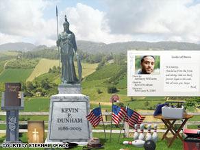 يتيح موقع إتيرنال سبايس  بناء مواقع قبور  إفتراضية تخلد ذكرى أحبائنا حسب ذوق المستخدم وتكون الصفحة مكاناً لاستقبال رسائل تذكر المتوفي