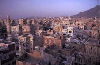 مشهد لمدينة صنعاء في اليمن