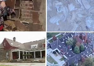 مشهد لقصر بروك كانتري في فيرجينيا والذي عثر فيه على بقايا عظمية بالإعتماد على أصوات غامضة مسموعة من قبل فريق التحقيق بالظواهر الغامضة