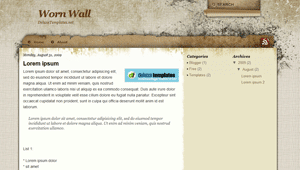 Worn Wall, Blogspot Template, Blogger Template