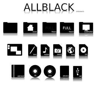 icone AllBlack linux