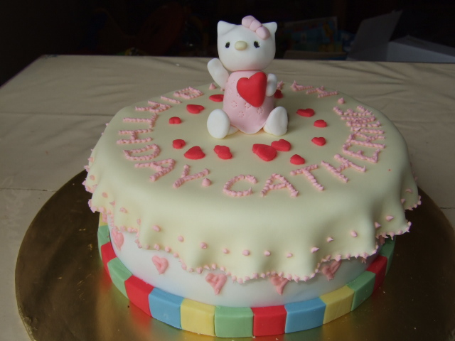 Bubblegum Adventures Hello Kitty Birthday Cake