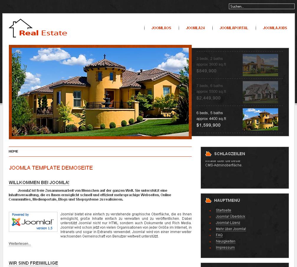 Type joomla templates template name real estate best joomla templates