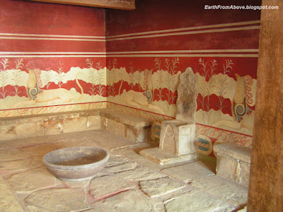Throne Room, the Minoan palace at Knossos, Crete, Greece