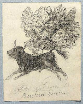 Toro Mariposa. Francisco de Goya (1746-1828).