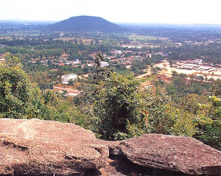The scenery of Sahasakhan district and Phu Kum Khao