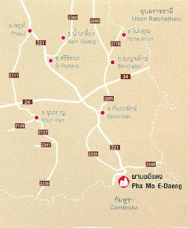 Pha Mo E-Daeng Map at thailand-mountains.blogspot.com