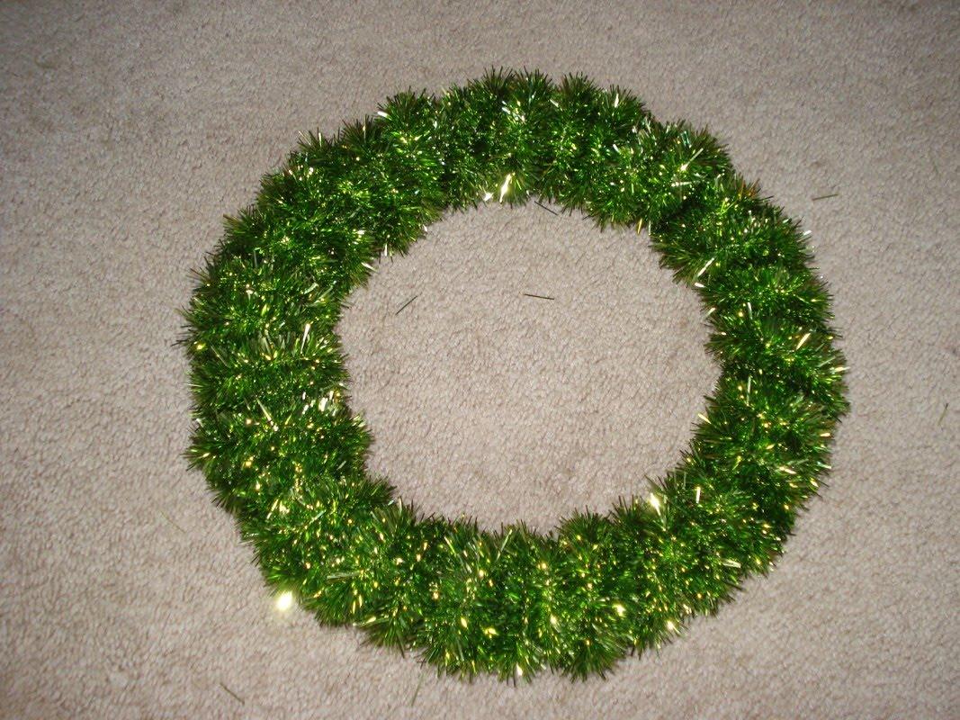 Adventures in semi adulthood diy tinsel garland wreath