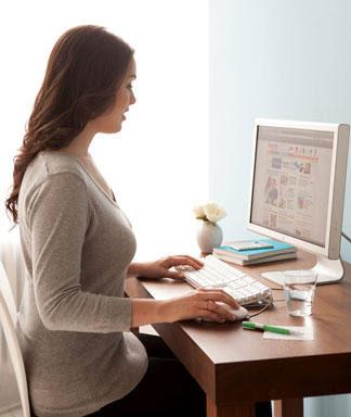 conseils pour une bonne posture s'installer correctement face l'ordinateur