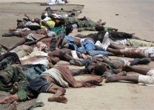 Nigerian kristittyjä teloitettuna