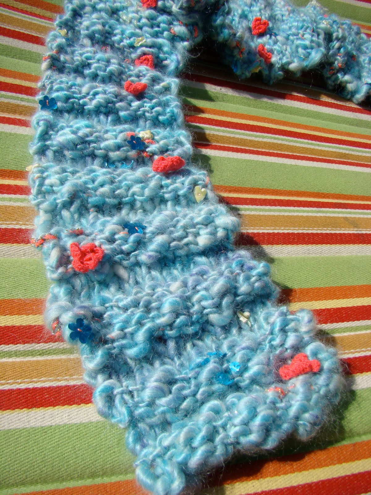 Susan B. Anderson: Knit Collage Scarf Pattern