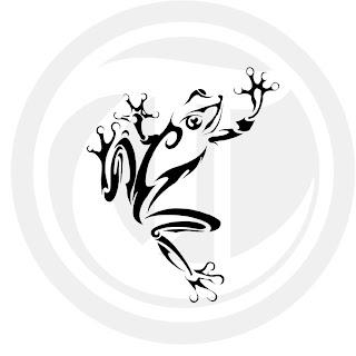 T johnson blog tribal frog for Tribal frog tattoo