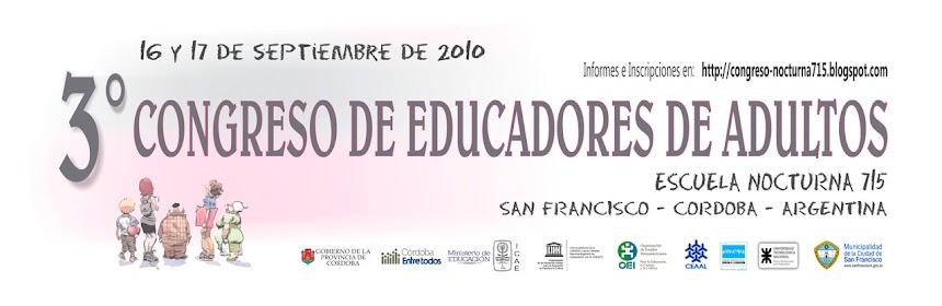 III CONGRESO DE  EDUCADORES DE ADULTOS